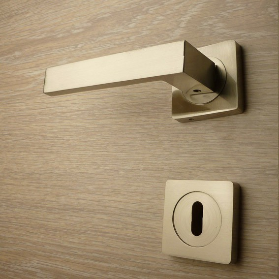Door handle, Zinc base + Alu. Handle AH011