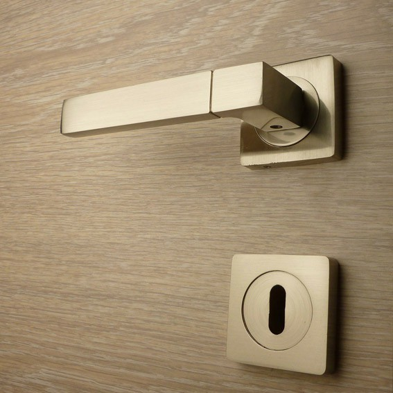 Door handle, Zinc base + Alu. Handle AH012