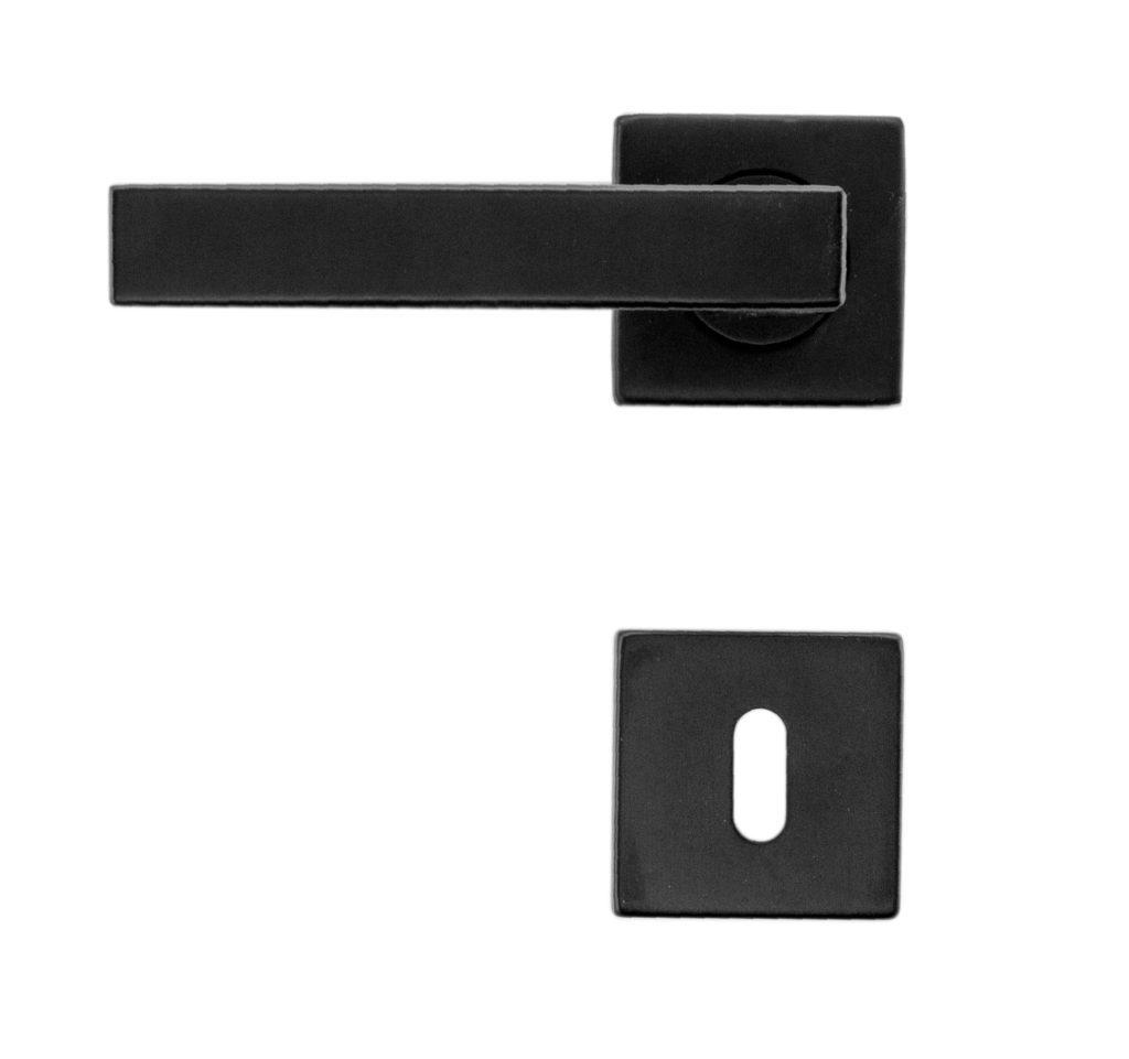 Deurkruk, WD13557 Kubic Shape R+E zwart
