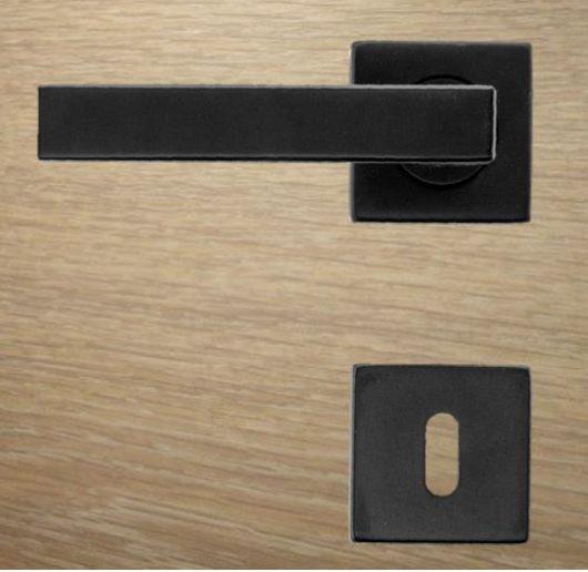Black door handle,WD13557 Kubic shape