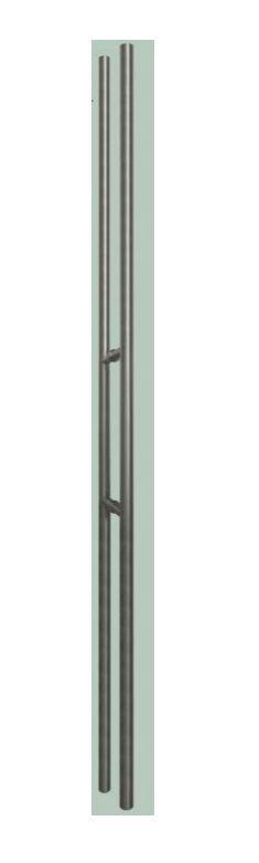Trekkers, rond inox (voor glazen deur) 180 cm