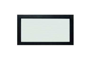 Patrijspoort, zwart staal + mat glas