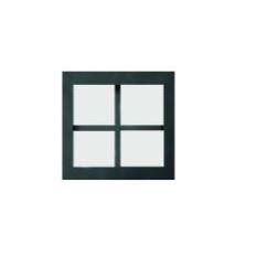 Inbouwkaders (patrijspoorten) , zwart staal + mat glas