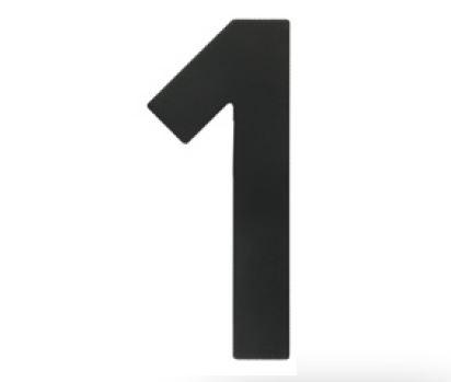 Huisnummer 1 – Plat zwart