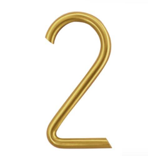 Huisnummer 2 – Rond mat koper