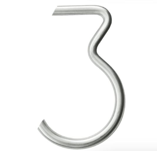 Huisnummer 3 – Rond inox plus