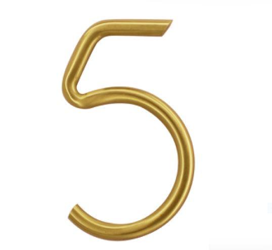 Huisnummer 5 – Rond mat koper