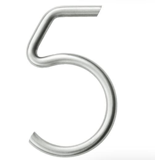 Huisnummer 5 – Rond inox plus