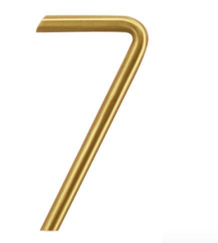 Huisnummer 7 – Rond mat koper