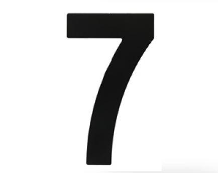 Huisnummer 7 – Plat zwart