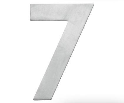 Huisnummer 7 – Plat inox plus