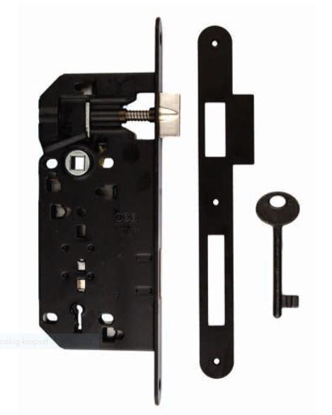 Slot, standaard AGB 22mm zwart 90mm